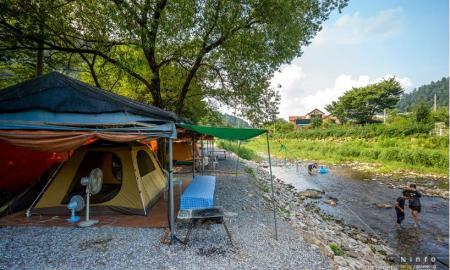 축령산 아침 캠핑장 작은이미지